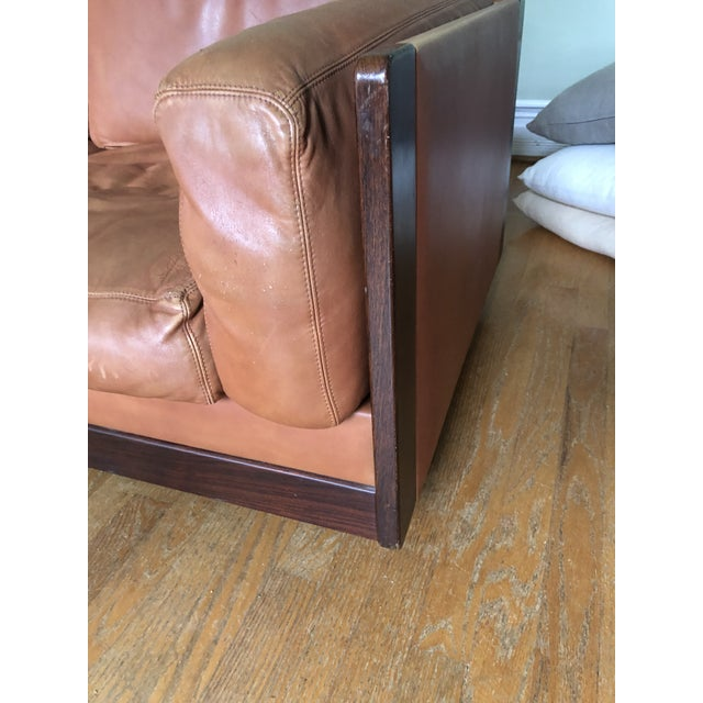 Mid Century Modern Tobia and Afra Scarpa for Gavina 920 Italian Leather Rosewood Sofas - a Pair For Sale - Image 9 of 12
