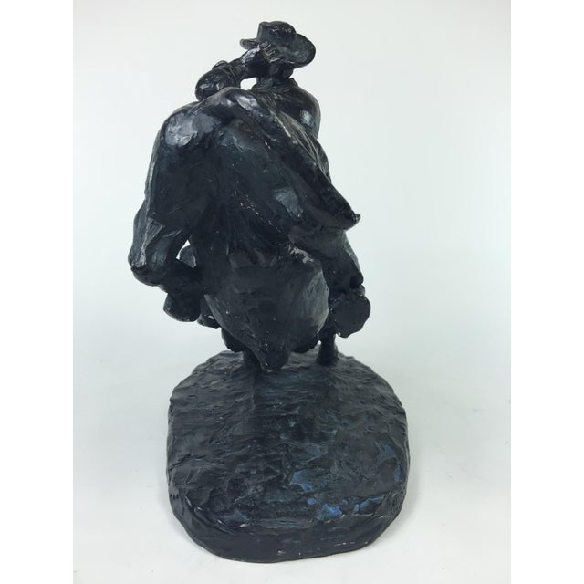 1979 Austin Productions Bull Cowboy Rider Sculpture - Image 7 of 11