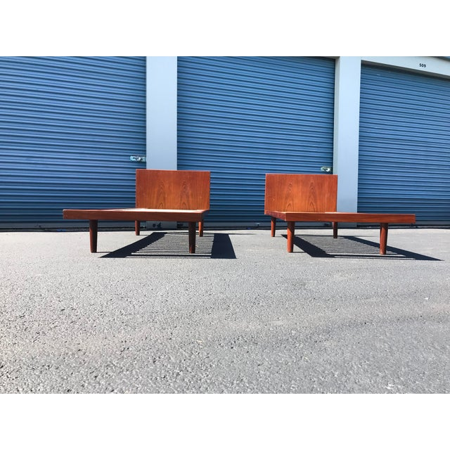 Mid-Century Modern European Twin Hans Wegner Platform Bedframes - a Pair For Sale - Image 3 of 10