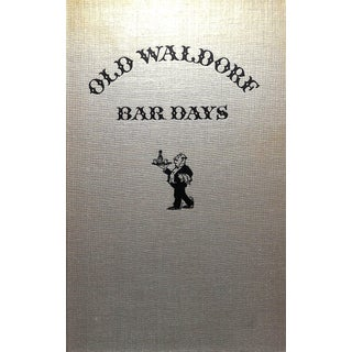 """Old Waldorfs Bar Days"" Book For Sale"