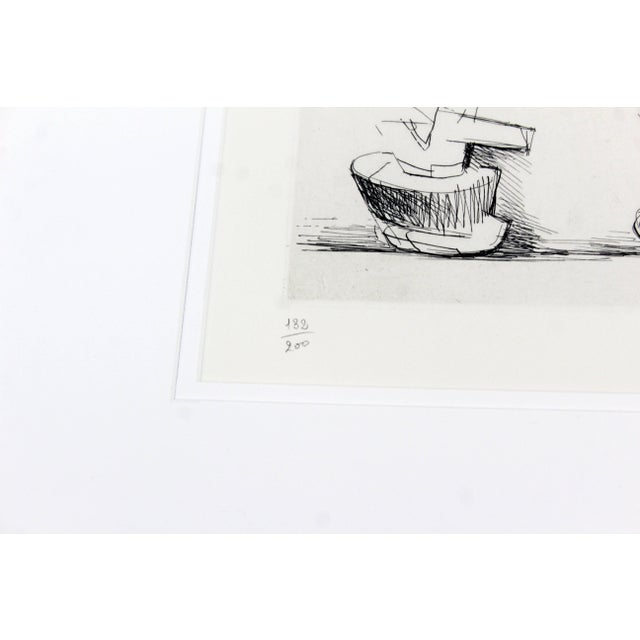 Black Mid-Century Modern Print Six Sculpture Motives Signed by Henry Moore 182/200 For Sale - Image 8 of 10