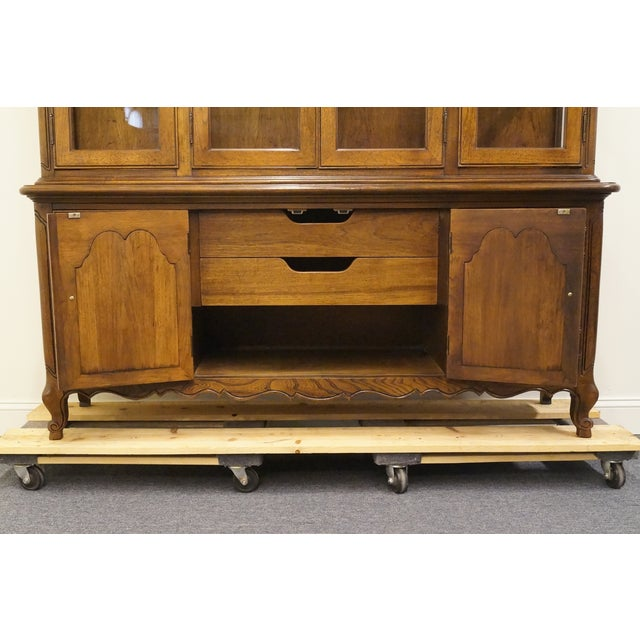 20th Century French Lighted Breakfront China Cabinet For Sale In Kansas City - Image 6 of 12
