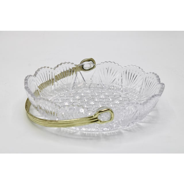French Vintage French Crystal Dish For Sale - Image 3 of 9
