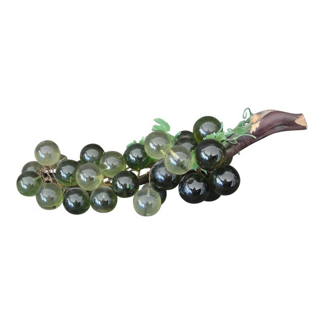 Mid-Century Green Lucite Grapes - Image 1 of 6