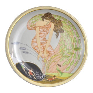 Arzberg Porcelain Wall Plate Demeter Goddess of Harvest Motif Limited Edition 1980 For Sale