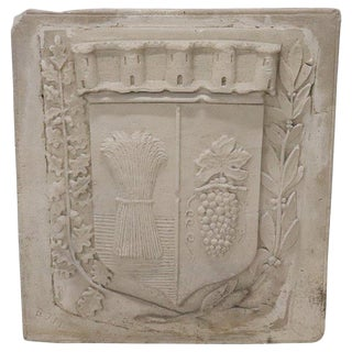 19th Century Italian Pozzolan Large Heraldic Coat of Arms, Wall Decoration For Sale