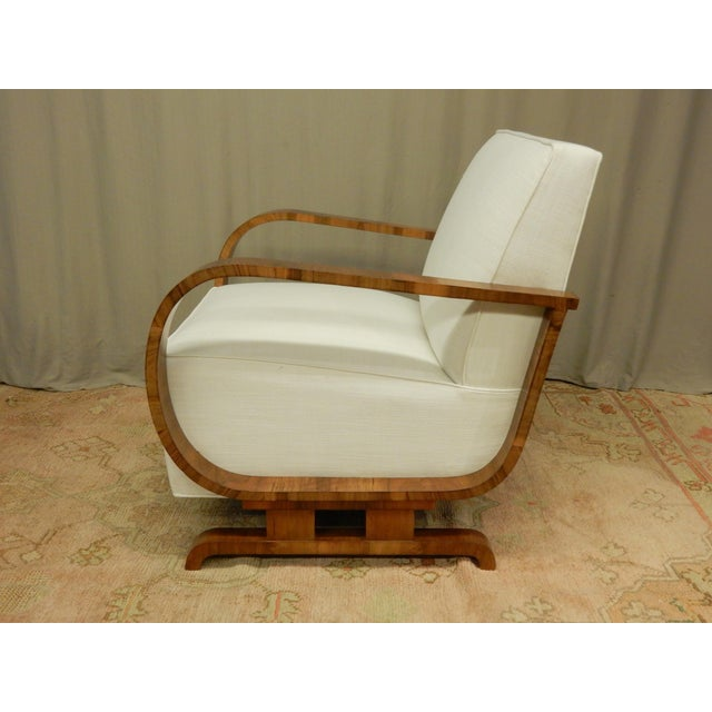 Art Deco Pair of Northern European Art Deco Arm Chairs For Sale - Image 3 of 7