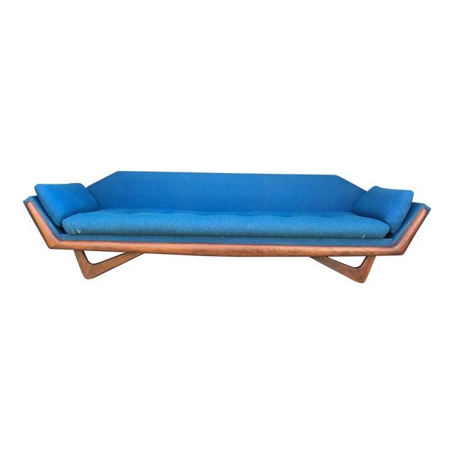 "101"" Adrian Pearsall Walnut Gondola Sofa Craft Associates For Sale"