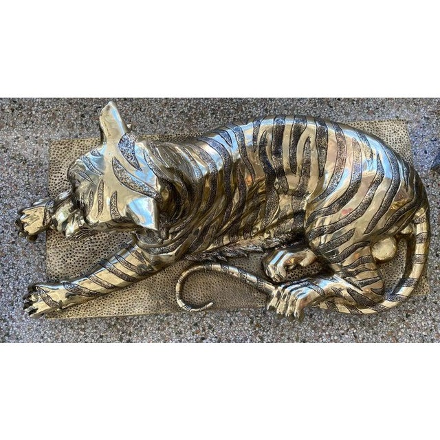 Mid-Century Sculpture Bengal Tiger For Sale - Image 10 of 13
