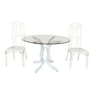 1960s Vintage Kessler Patio Table Set- 3 Pieces For Sale