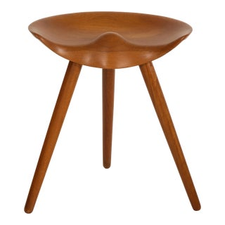 Mogens Lassen Stool in Solid Teak For Sale