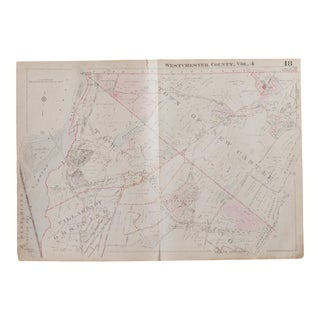 Vintage 1930s Hopkins Map of New Castle and Ossining NY For Sale
