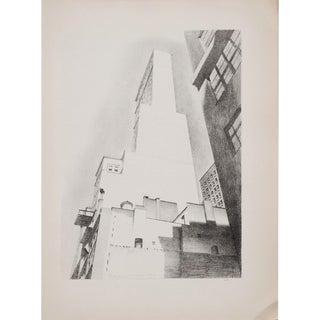 """1939 Charles Sheller """"Delmonico Building, Manhttan Photogravure For Sale"""