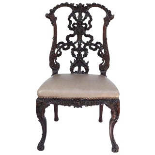 19th C. English Chinese Chippendale Chair For Sale