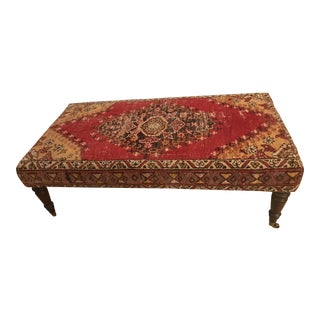 Antique Rug Ottoman For Sale