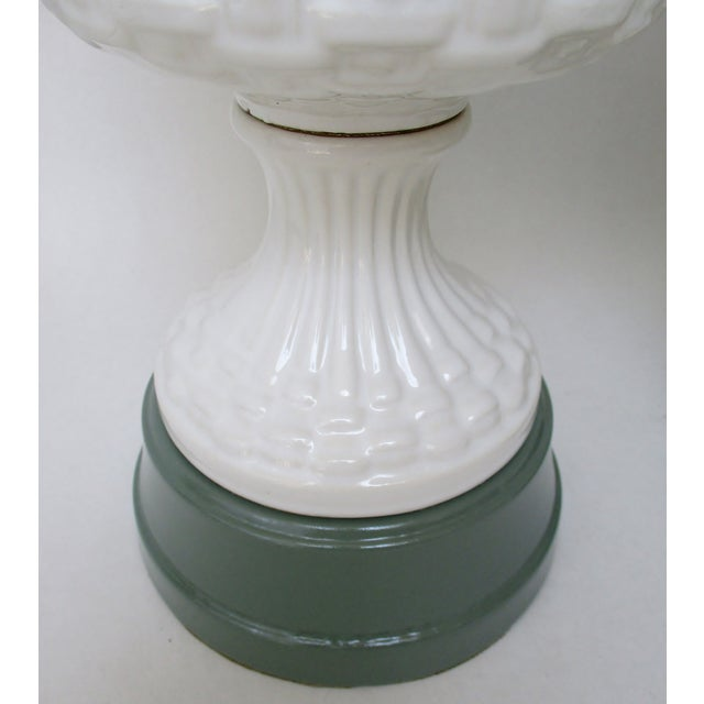 Ceramic Topiary Lamps - a Pair - Image 4 of 5
