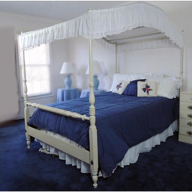 Vintage Full Size Ethan Allen Canopy Bed For Sale In Dallas - Image 6 of 6