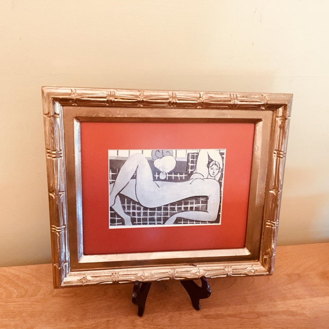 "Framed Print of Sketch for Matisse's ""The Pink Nude"" With Wooden Stand - Image 6 of 6"