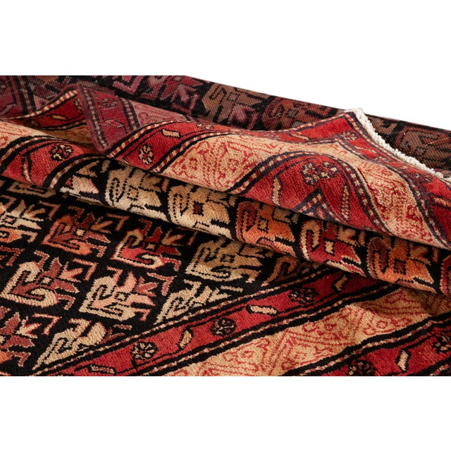 """Vintage North West Persian Rug, 4'5"""" X 10'0"""" For Sale - Image 4 of 9"""