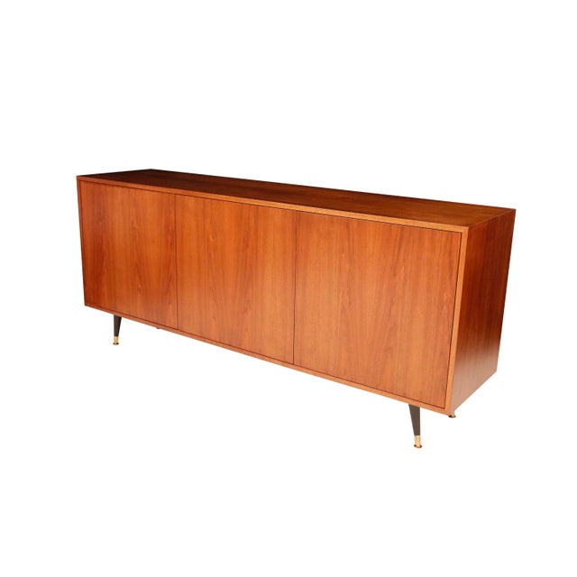 Brown 1970s Mid-Century Curated Danish Teak Credenza For Sale - Image 8 of 8
