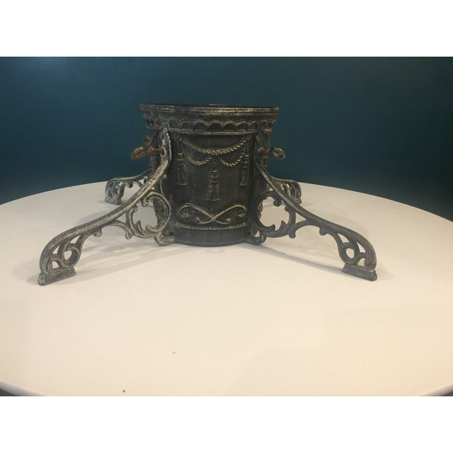 Black Vintage Cast Iron Christmas Tree Stand For Sale - Image 8 of 8