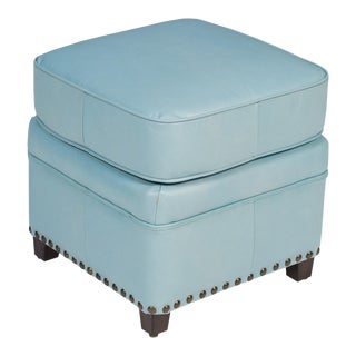 Papa's Footstool in Wedgewood Blue For Sale
