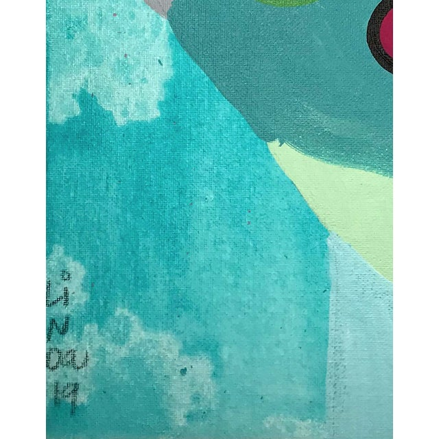 This abstract portrait is by contemporary artist Linda Ward of Detroit. This portrait is #469 out of a series of 500...