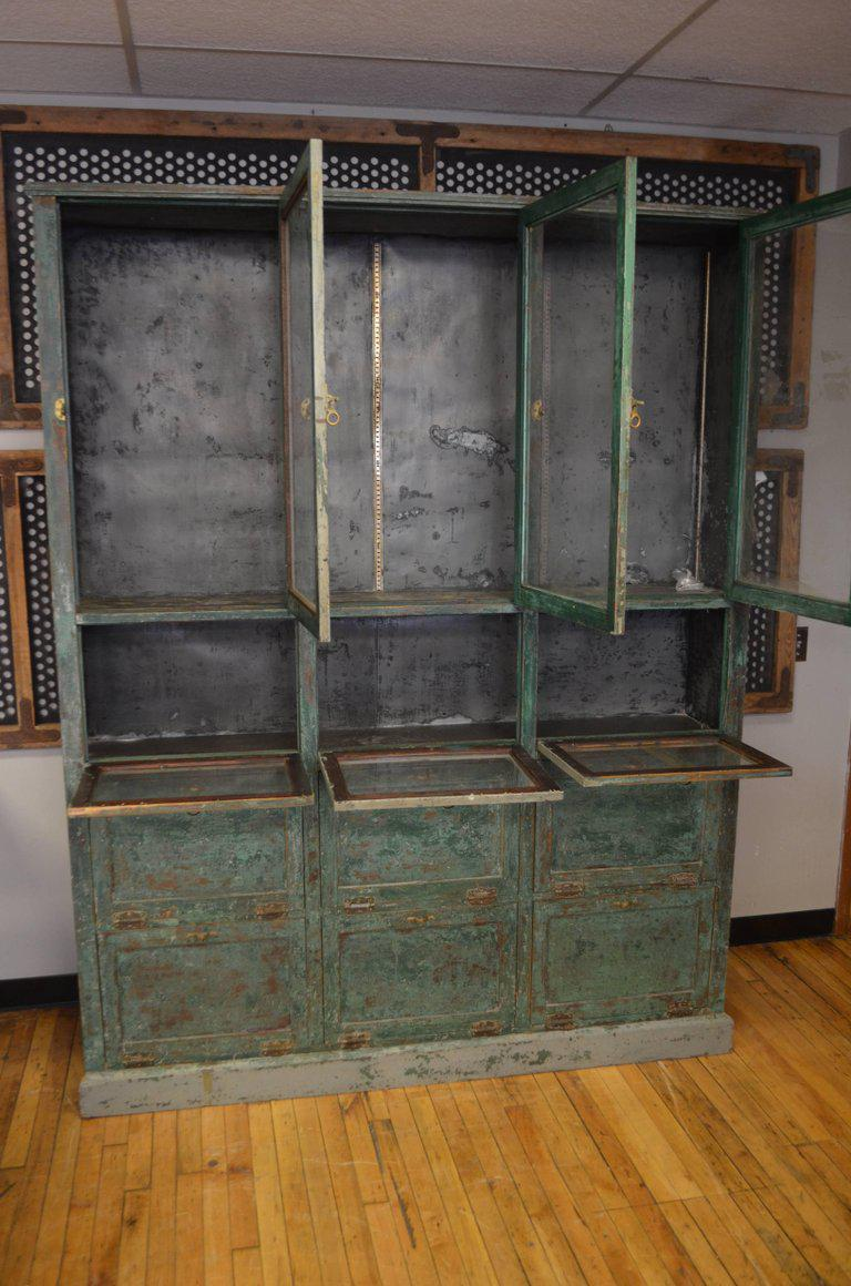 Apothecary Storage Cabinet Cupboard From Late 1800s, Used As Humidor In  Small Town Pharmacy For