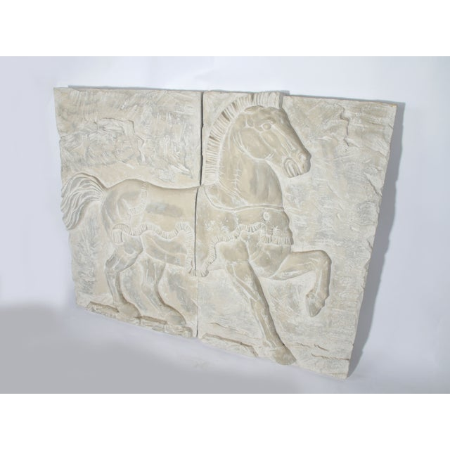 White Fiberglass Horse Wall Art Pieces - A Pair - Image 2 of 7