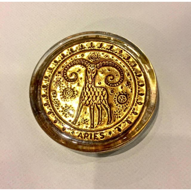 Mid-20th Century Venetian Zodiac Paperweights For Sale - Image 9 of 9