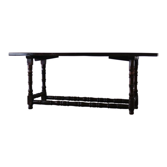 19th Century Extended Dark Italian Console For Sale