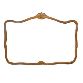 Large Vintage French Carved Wall Mirror For Sale