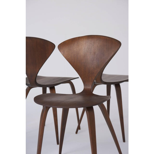 Wood Set of Eight Norman Cherner Dining Chairs, Made by Plycraft in the Usa, 1960s For Sale - Image 7 of 9