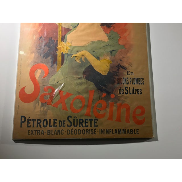 Original French Color Lithograph Poster for Saxoléïne by Jules Chéret, 1893 For Sale In New York - Image 6 of 11