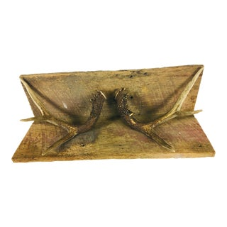 Rustic Antler Wall Shelf For Sale