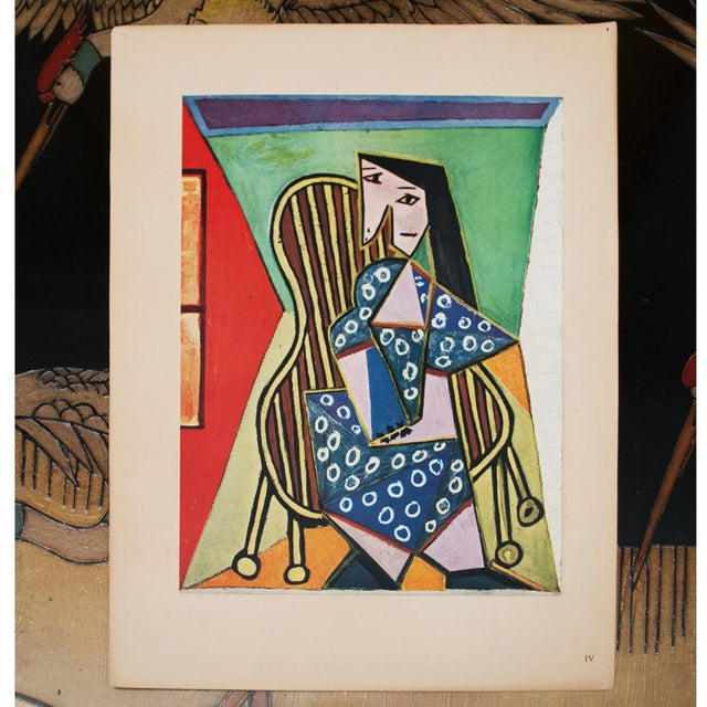 "1940s 1943 Picasso Original ""Femme Assise"" Period Lithograph For Sale - Image 5 of 10"