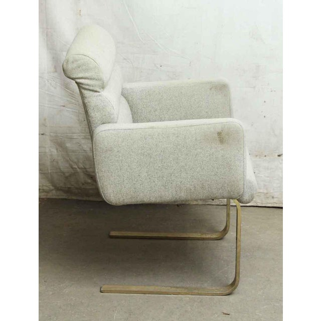 Modern Cream Chair With Two Metal Legs - Image 4 of 5