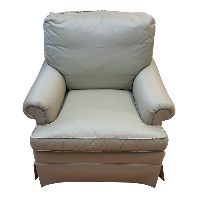 Hickory Chair Mint Green Club Chair For Sale