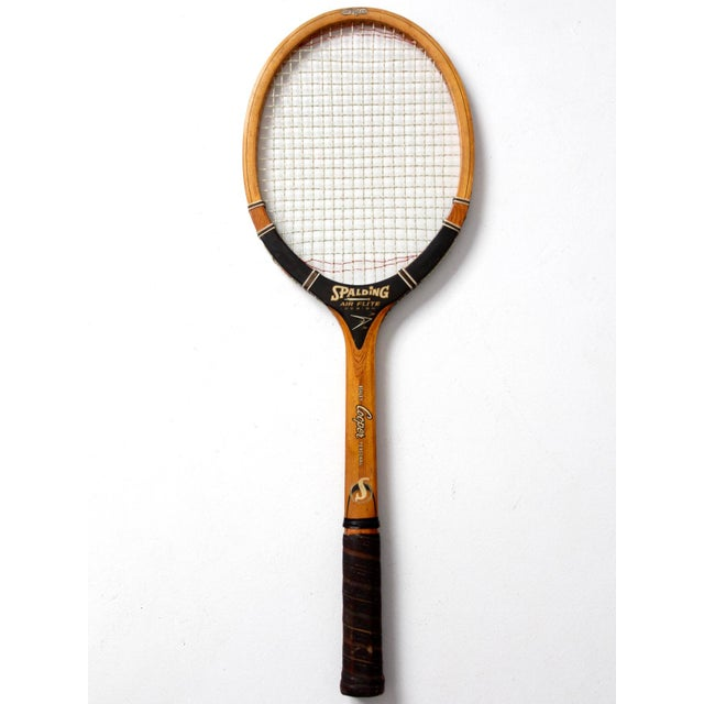 1960s Vintage Spalding Tennis Racquet For Sale - Image 5 of 6