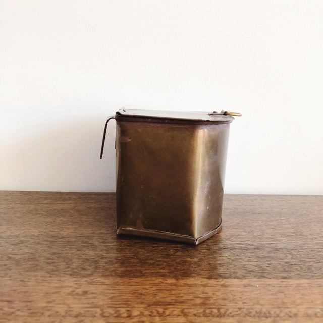 1960s Hanging Brass Planter / Mail Bin For Sale - Image 4 of 8