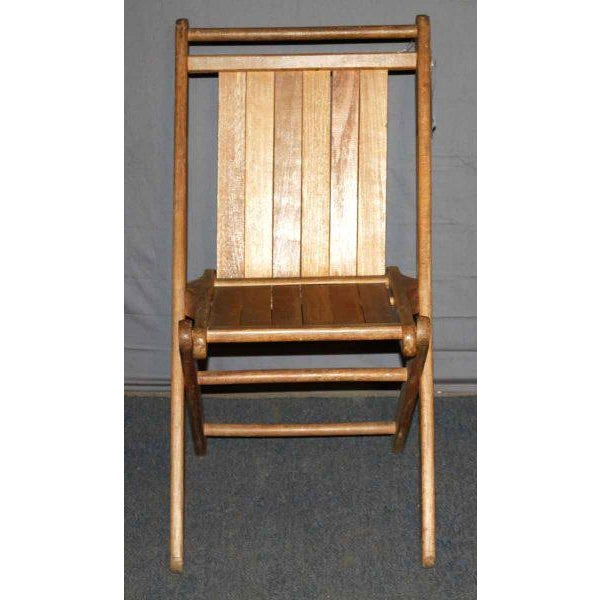 Vintage Maple Folding Chair - Image 4 of 4