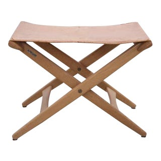 Folding Stool by Des. Uno and Östen Kristiansson for Luxus Vittsjö For Sale