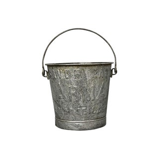 Antique French Laundry Soap Bucket For Sale