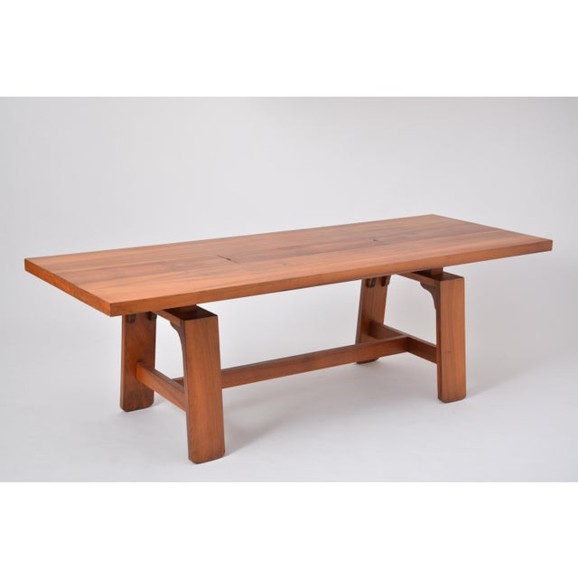 Large Dining Table in Walnut Veneer by Silvio Coppola, Bernini, Italy, 1964 For Sale - Image 12 of 12
