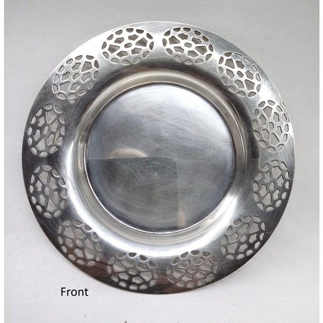 Oneida Silver Cutout Wine Plate - Image 4 of 10