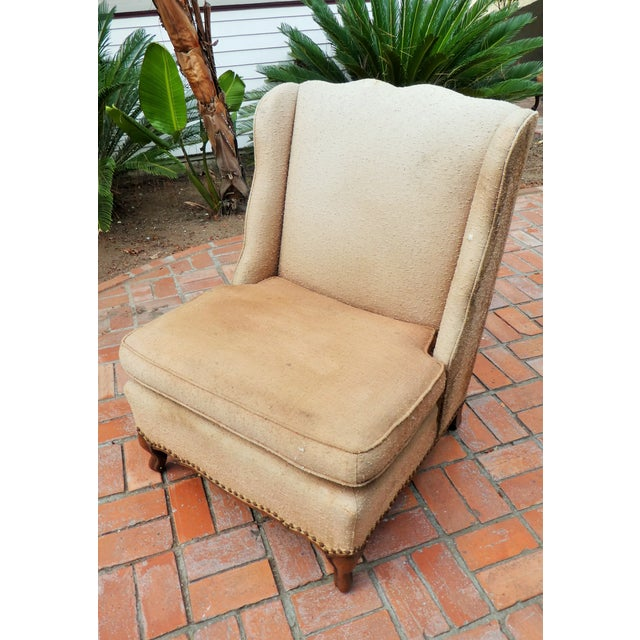 Orange Mid-Century Peachy Slipper Chair For Sale - Image 8 of 8