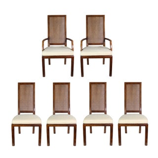 Mid-Century Henredon Wood & Cane Backed Dining Chairs - Set of 6 For Sale