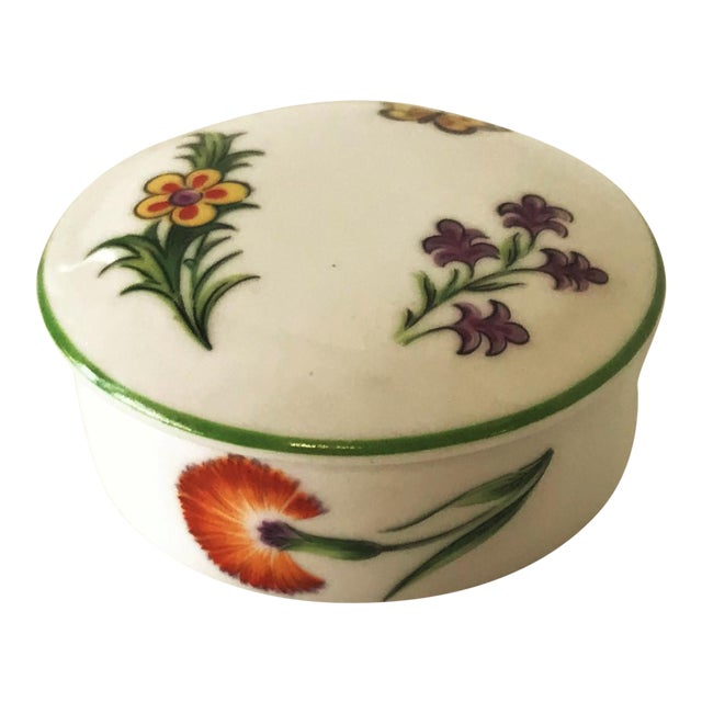 Tiffany & Co. Limoges Hand Painted Porcelain Trinket Box For Sale