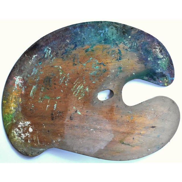 Wood Vintage Large Mid-Century Artist's Palette For Sale - Image 7 of 7