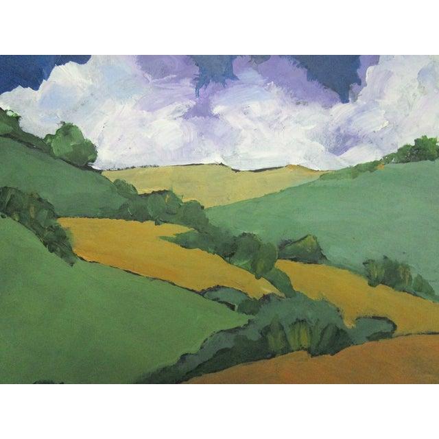 Impressionist Malibu Hills Impressionist California Plein Air Landscape For Sale - Image 3 of 7